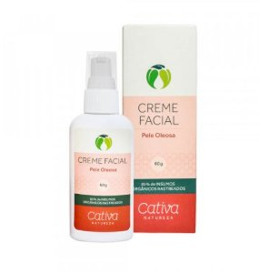 Creme Facial Pele Oleosa 60g - Cativa
