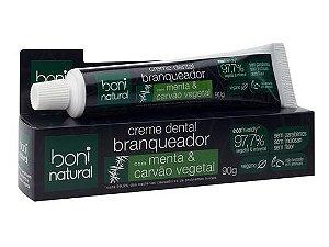 Creme dental natural de Menta e Carvão Vegetal 90g - Boni