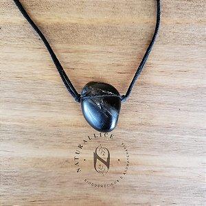 Colar aromático/ Difusor pessoal em Pedra Natural Rolada Onix – Naturallice