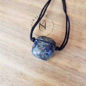 Colar aromático/ Difusor pessoal em Pedra Natural Rolada Lapisazuli – Naturallice