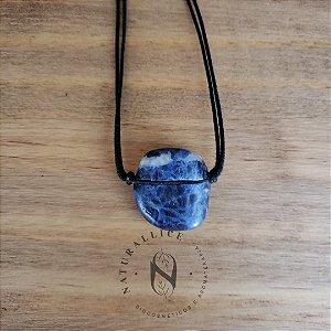 Colar aromático/ Difusor pessoal em Pedra Natural Rolada Sodalita – Naturallice