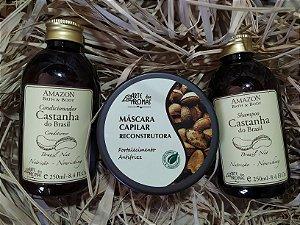Kit Cabelos Castanha Arte dos Aromas