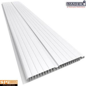 Forro de PVC MADEX 8mm x 20cm x 3.50m Branco Gelo (PC)
