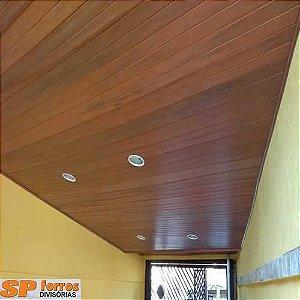 Forro de PVC  INSTALADO Nogueira Frisado - Instalação Mínima 20m²