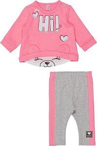 Conjunto Infantil Momi Blusão Infantil Moletom e Legging 1155