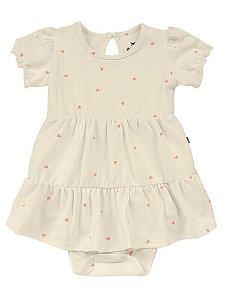 Vestido Infantil Hering Body em Cotton Manga Curta 58HB