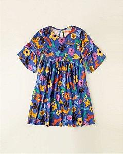 Vestido Infantil Fábula Malha Estampa Florix 8874