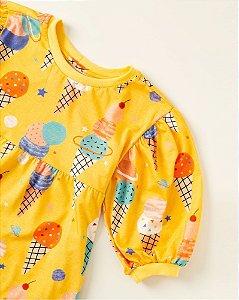 Vestido Infantil Fábula Malha Sorvete Cósmico 8871