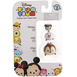 Tsum Tsum Minifiguras: Tico, Olaf e Mickey