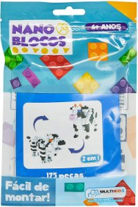 Nano Blocos 2 Em 1 Animais Sortidos - BR877