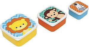 Kit 3 Potinhos Buba Animal Fun 11383