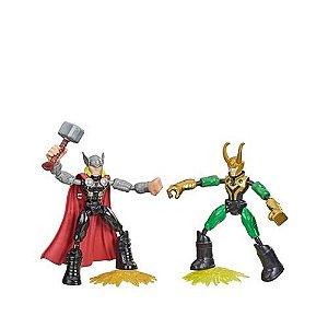 Boneco Bend e Flex Avengers Thor vs Loki - Hasbro F0245
