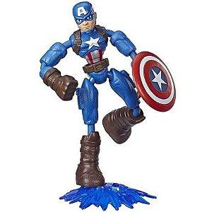 Boneco Bend e Flex Avengers Capitão América - Hasbro F7869