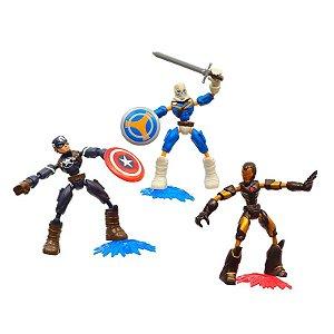 Boneco Bend e Flex Avengers Taskmaster vs Homem de Ferro e Capitão América - Hasbro F9198