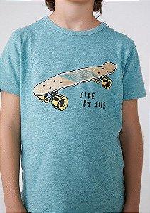 Camiseta Infantil Hering Verde Estampa Skate Side By Side 5D1L/WHM