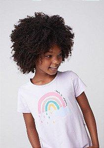 Camiseta Infantil Hering Lilás Estampa Arco Iris 5CHA/4Len