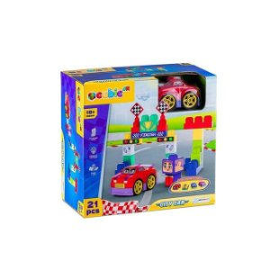 Blocos de Montar Cubic Jr City Car 21 Peças - BR1395