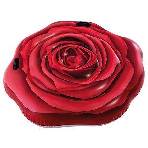 Colchão Inflável Boia para Piscina Rosa Vermelha - Intex 58783