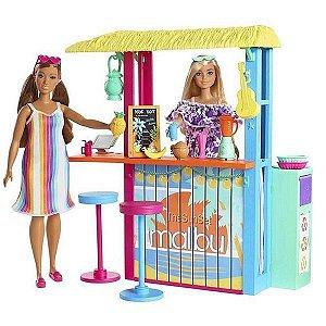 Barbie Malibu Barraca de Praia e Acessórios - Mattel GYG23