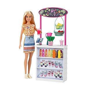 Boneca Barbie Conjunto De Sucos Tropicais - Mattel GRN75