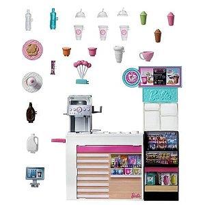 Boneca Barbie Careers Profissões Cafeteria - Mattel GMW03