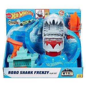 Hot Wheels Pista e Acessório City Robo Tubarão