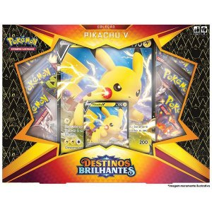 Pokémon Box Coleção Pikachu V - Destinos Brilhantes