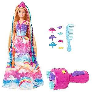 Boneca Barbie Princesa Tranças Magicas - Mattel GTG00