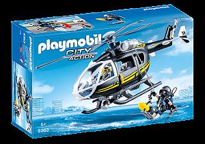 Playmobil Unidade Tática com Helicóptero - Sunny
