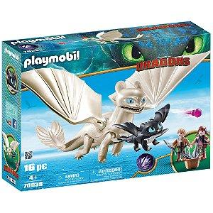 Playmobil Como Treinar Seu Dragão 3 Furia da Luz com Filhote e Crianças - Sunny 1591