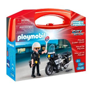 Playmobil City Action Maleta do Policial com Moto - Sunny 1687