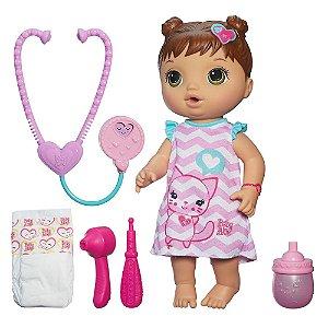 Boneca Baby Alive Cuida de Mim Hasbro - Morena