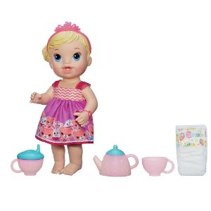 Boneca Baby Alive Hora do Chá Chazinho Mágico Hasbro - Loira