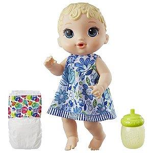 Boneca Baby Alive Hora do Xixi Hasbro - Loira