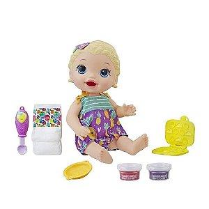 Boneca Baby Alive Lanchinhos Divertidos Hasbro - Loira