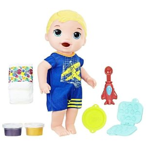 Boneca Baby Alive Menino Meu Primeiro Filho Hasbro - Loiro