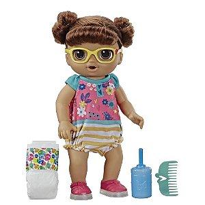 Boneca Baby Alive Passos e Sorrisos Hasbro - Morena