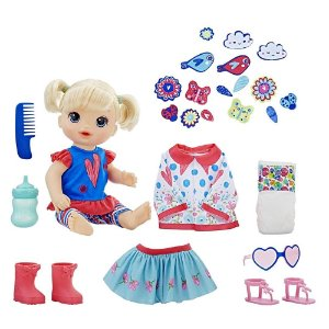 Boneca Baby Alive Vestida para Passear Hasbro - Loira