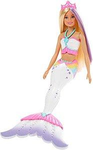 Boneca Barbie Dreamtopia Sereia com Canetinhas Crayola - Mattel