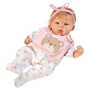 Boneca Bebê Reborn Happy Teddy - Menina