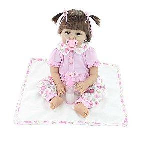 Boneca Bebê Reborn Laura Doll Baby Sophia - Menina