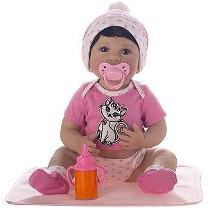 Boneca Bebê Reborn Laura Newborn - Iolanda