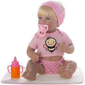 Boneca Bebê Reborn Laura Newborn Camila