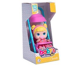 Carrinho com Boneca Babys Collection Mini - Super Toys