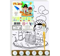ART KIT TELA PINTA PIRATA GRANDE 30X40