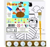 ART KITS TELA PINTA PIRATA 25X25