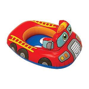 Boia Bote Inflável para Piscina Carro de Bombeiro Kiddie Intex - 59586