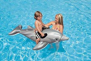 Boia Bote Inflável para Piscina Golfinho Intex - V58535