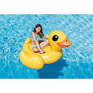 Boia Bote Inflável Infantil para Piscina Pato Amarelo Intex - 57556NP