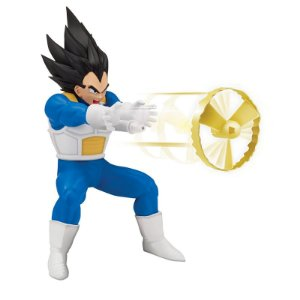 Boneco Dragon Ball Super com Mecanismo e Lançador Vegeta Super Sayajin - Brinquedos Chocolate